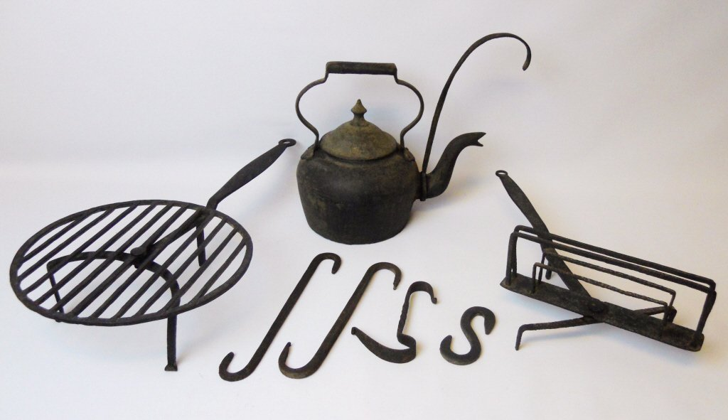 18th C. Wrought Iron Cooking Implements (7pcs)