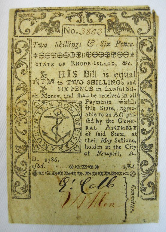 Two 18th C. State of Rhode Island Currency Notes - 4