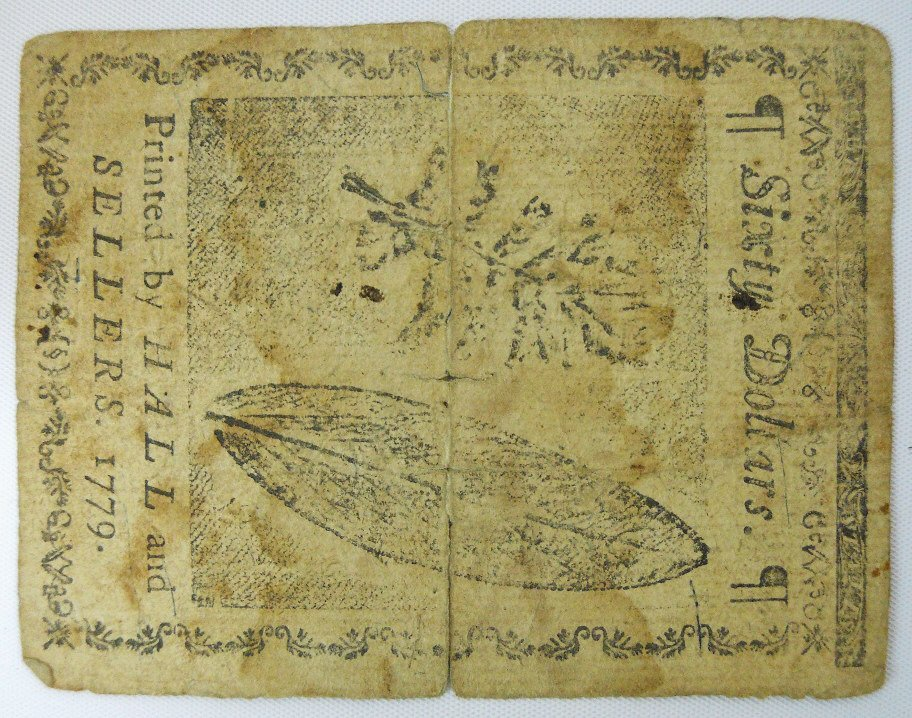 Continental Currency, Sixty Dollar Note, 1779 - 2