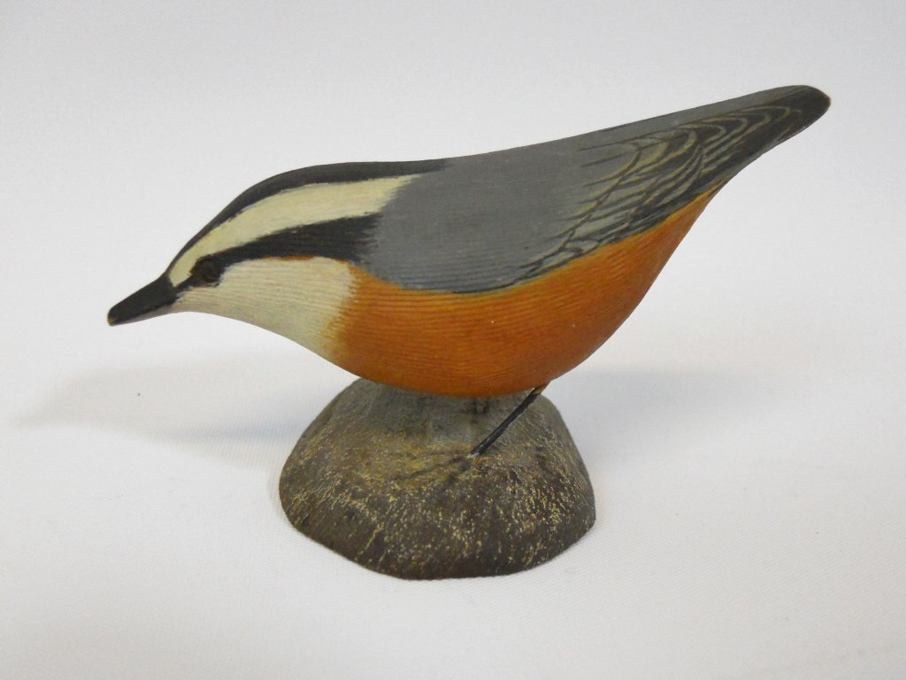 Hand Carved and Painted Bird, Jess Blackstone - 2