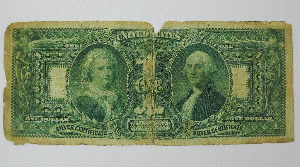 1896 $1 Educational Silver Certificate US Currency - 2