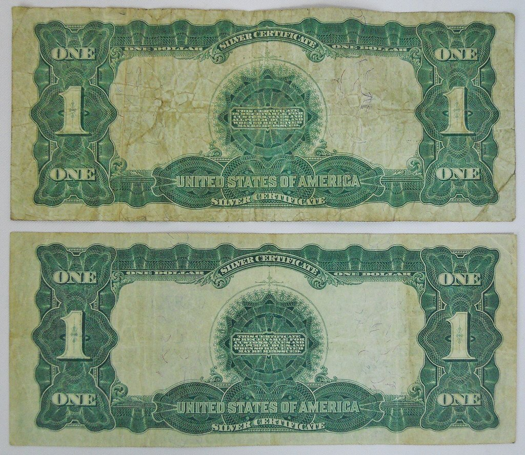 Two $1 Silver Certificates Series 1899 Black Eagle - 2