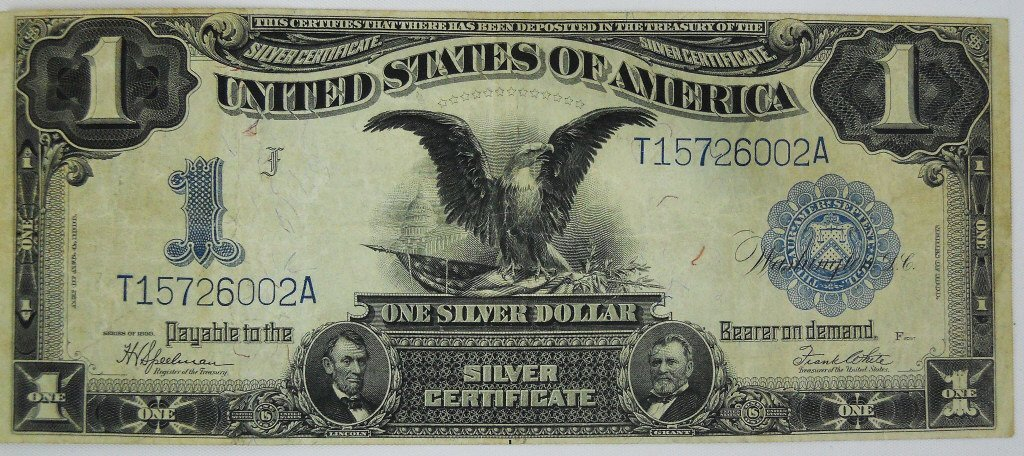 Two $1 Silver Certificates Series 1899 Black Eagle - 3