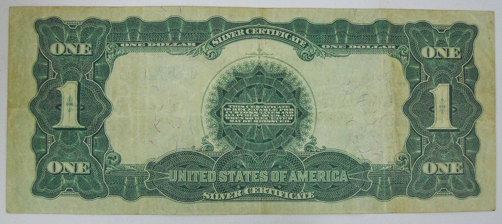 Two $1 Silver Certificates Series 1899 Black Eagle - 4