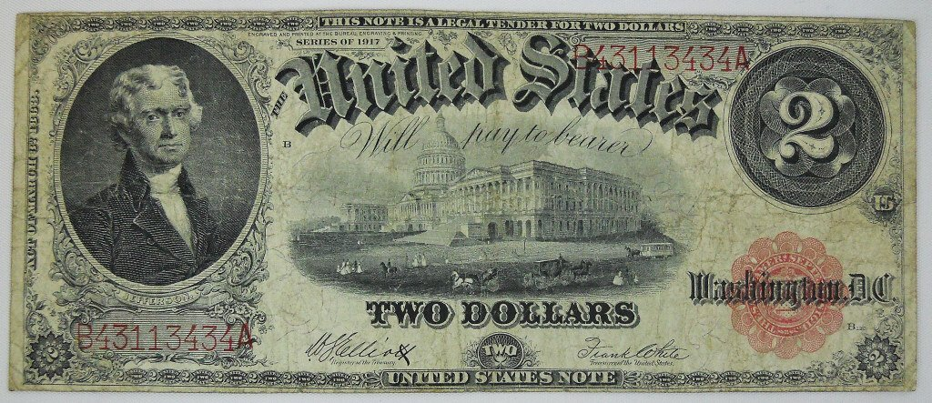 Two $2 Legal Tender Notes, Series of 1917 - 3