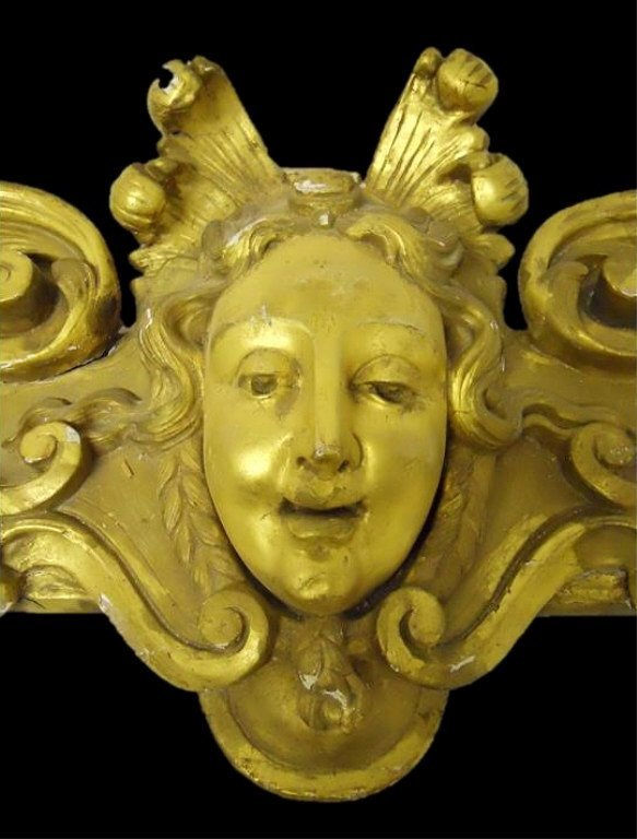19th C.  French Gilt Wood Architectural Element - 2