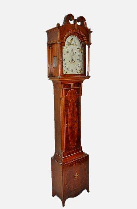 18th C. English Mahogany Cased Tall Clock