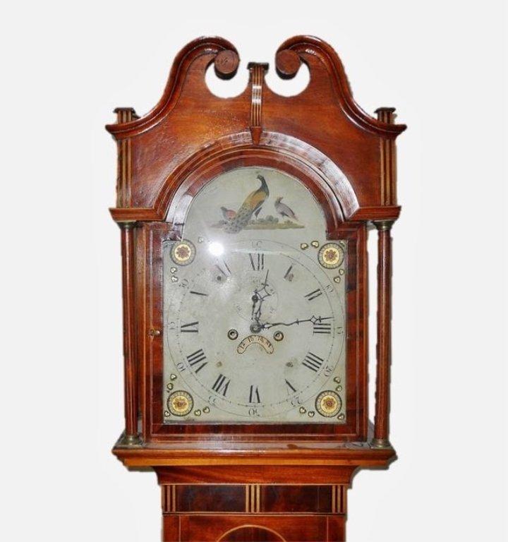 18th C. English Mahogany Cased Tall Clock - 2