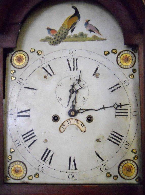 18th C. English Mahogany Cased Tall Clock - 4