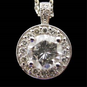 Ladies 14K Diamond Pendant
