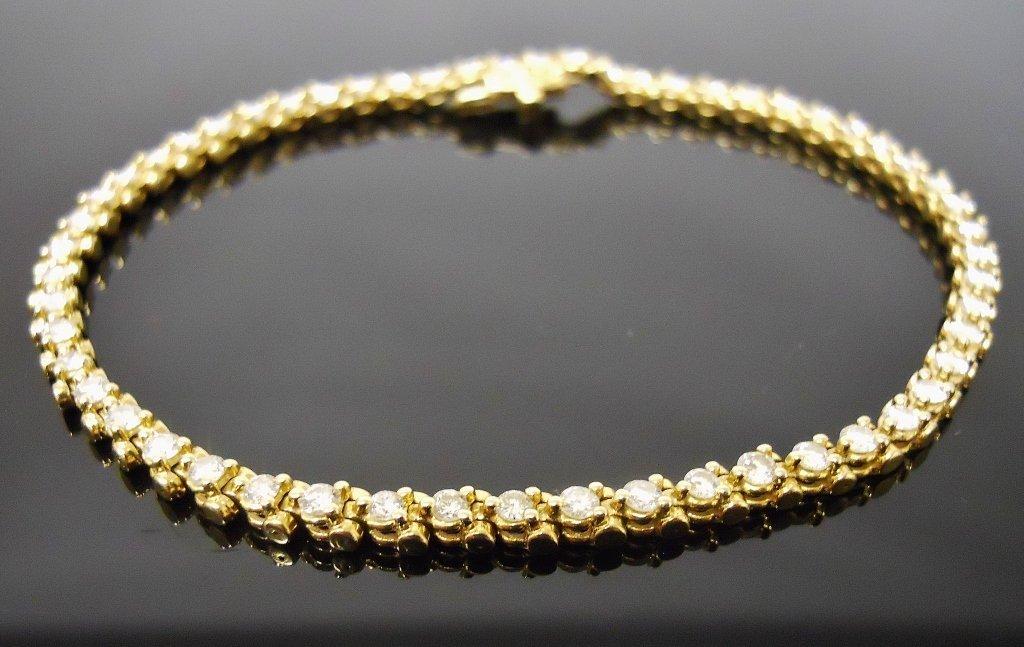 Ladies 14K Gold Diamond Bracelet
