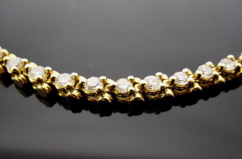 Ladies 14K Gold Diamond Bracelet - 2