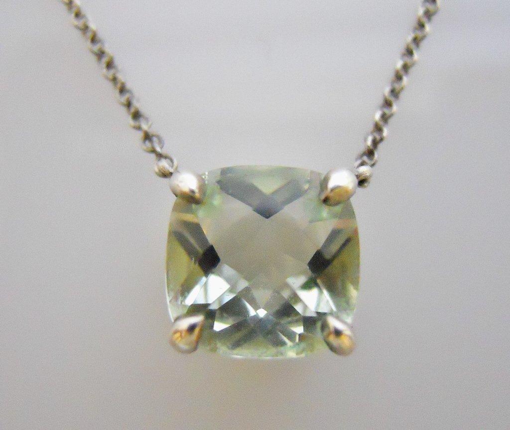 Ladies Faceted Aquamarine Necklace, TIFFANY & Co