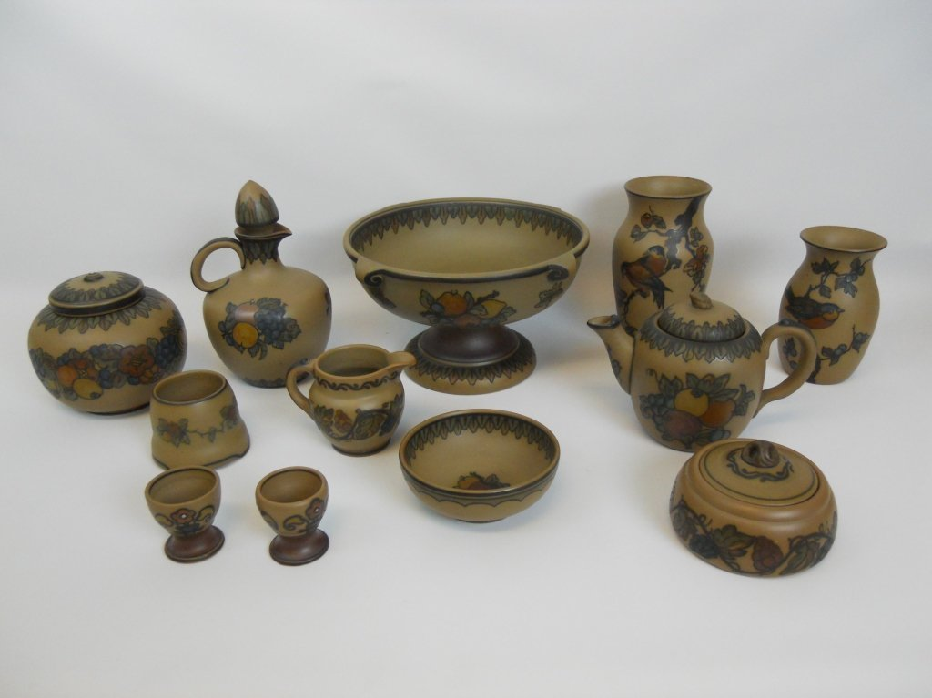 Danish L. Hjorth Terracotta Pottery Collection