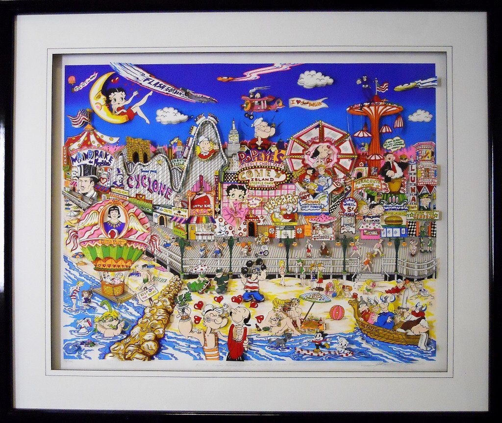 "Silkscreen 3D Serigraph, ""Coney Island"" Fazzino"