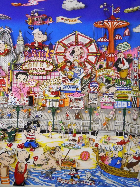 "Silkscreen 3D Serigraph, ""Coney Island"" Fazzino - 4"