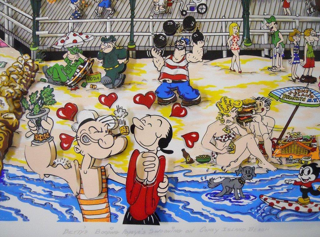 "Silkscreen 3D Serigraph, ""Coney Island"" Fazzino - 5"