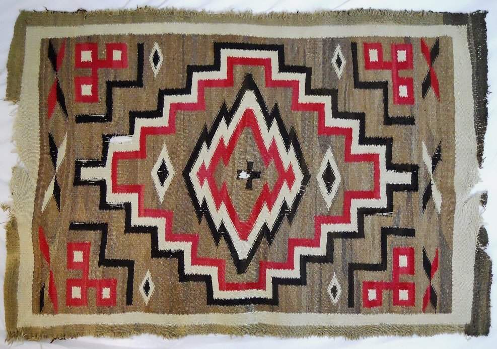 Two Early 20th C. Navajo Weavings