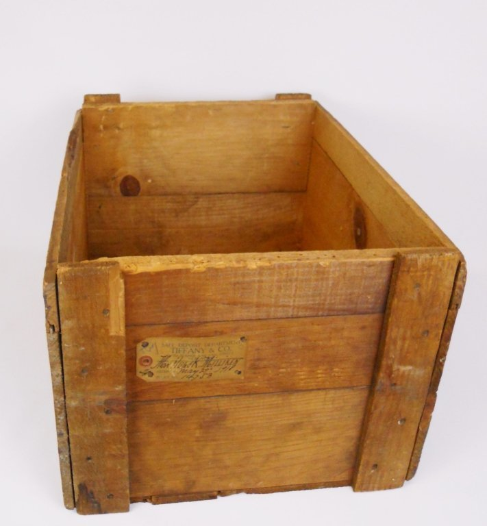Tiffany & Co. Safe Deposit Dept. Crate, Circa 1918 - 2