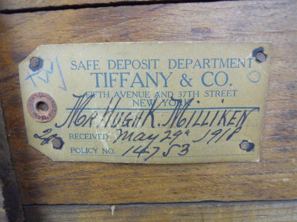 Tiffany & Co. Safe Deposit Dept. Crate, Circa 1918 - 3