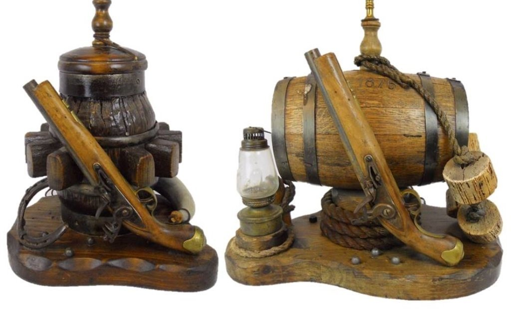 Vintage Western Themed Lamps (2)