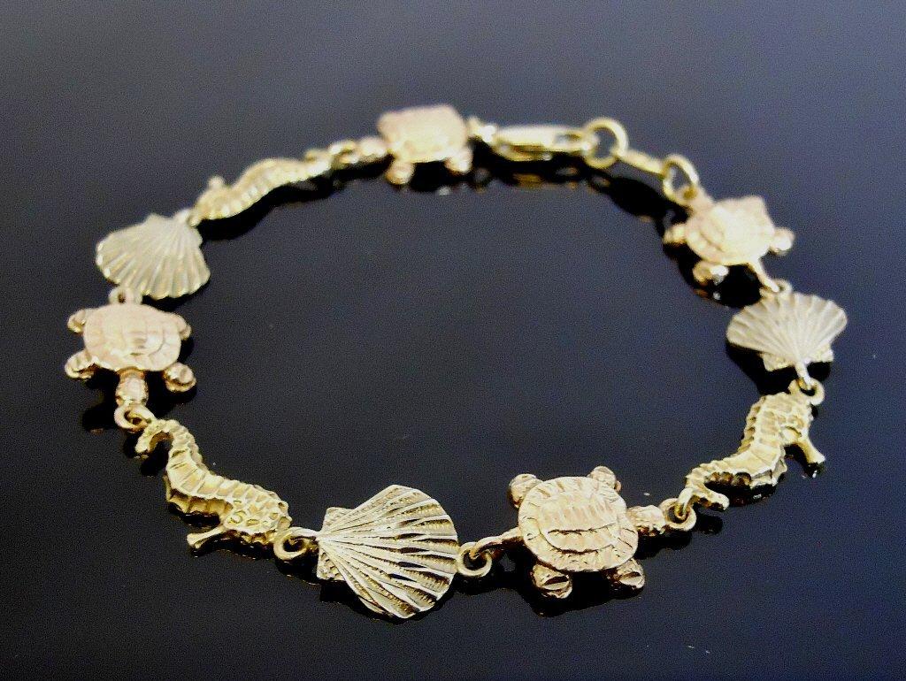 Ladies 14K Yellow White Rose Gold Bracelet