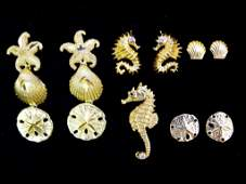 Collection of 14K Gold Jewelry 9pcs