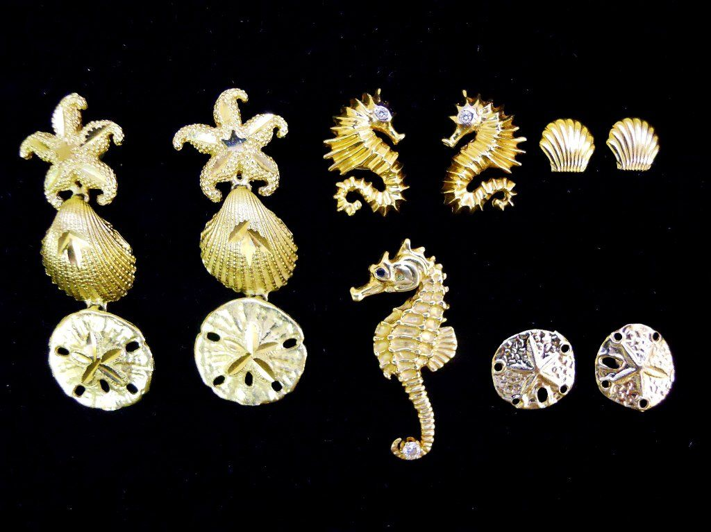 Collection of 14K Gold Jewelry, (9pcs)