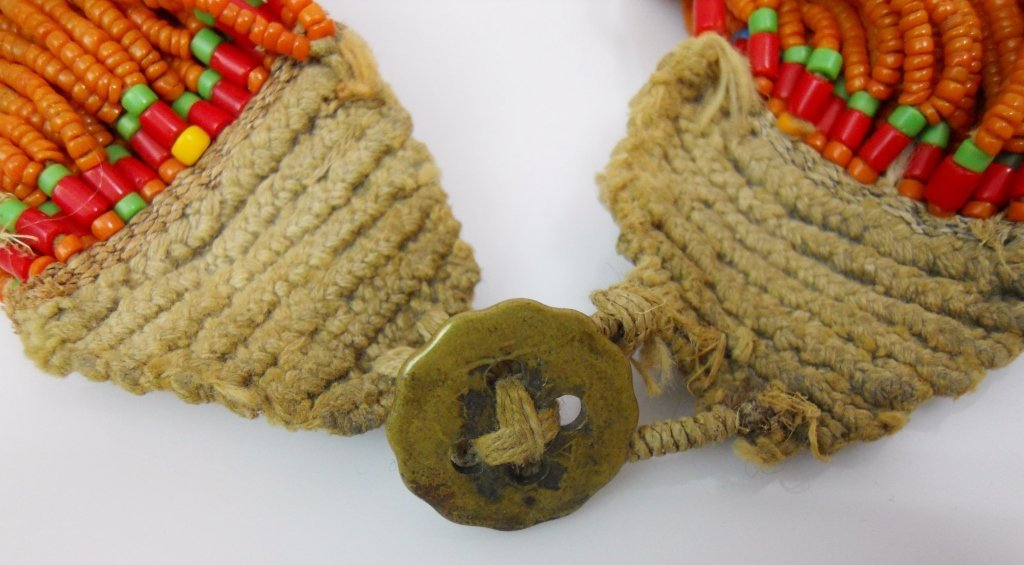 Konyak Naga Glass Bead Necklace - 2