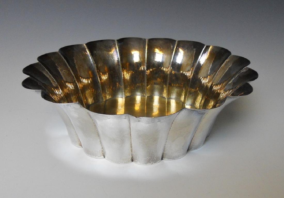 Austrian Fluted Silver Bowl, Josef Hoffmann