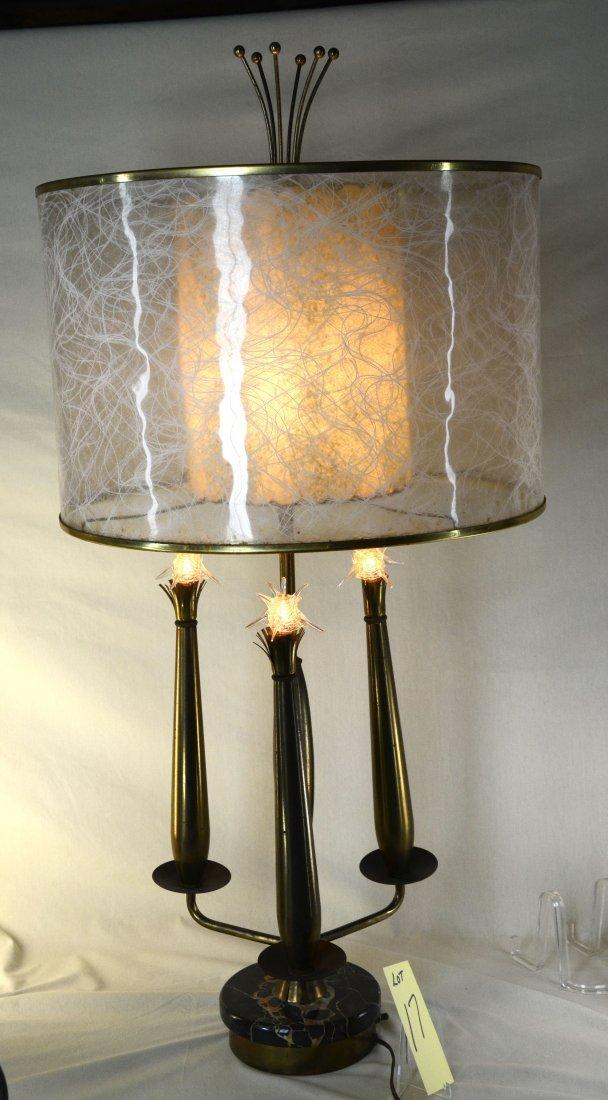 Mid Century Sputnick Lamp with Original Shade