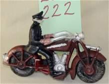 Hubley 30's Champion Motorcylce Cop Cast Iron Toy