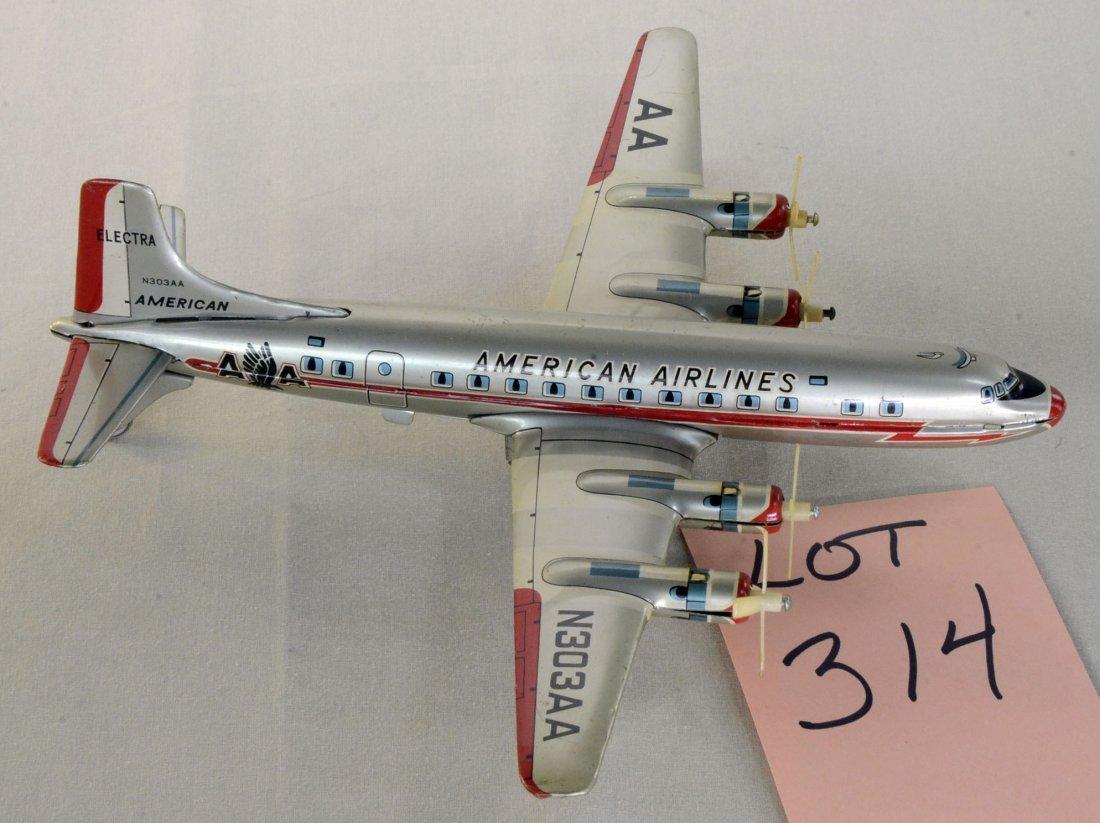 Yonezawa Tin Friction Vintage AA Electra Air Plane