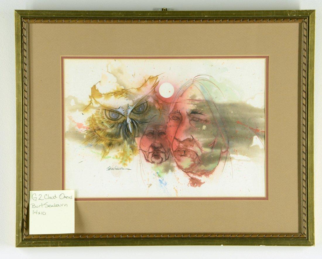 Bert Seabourn Cloud Omens Original Water Color & Book