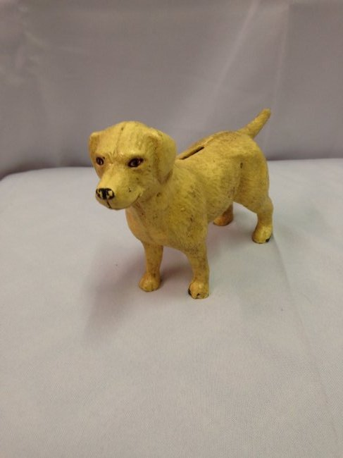 1930's Old Yeller Cast Iron Bank