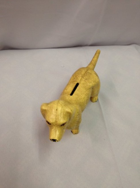 1930's Old Yeller Cast Iron Bank - 2