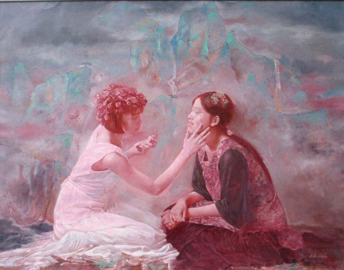 Chinese 20th C. O/C Painting, Gao Yan
