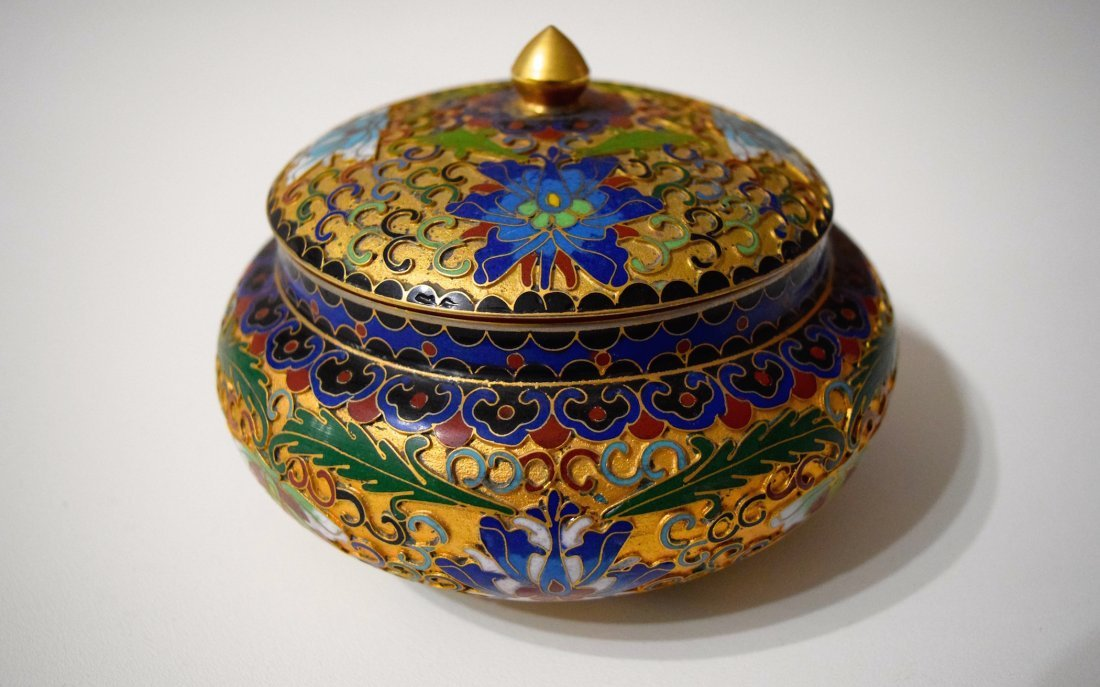 Early 20th Century Chinese Enamel Silver Box