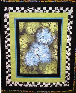 """CHECKERBOARD FANTASY: SUMMER'S GLORY"" blue hydrang"