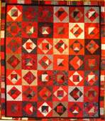 """27: """"CRAZY FOR SCARLET AND GRAY"""" queen size OSU quilt i"""