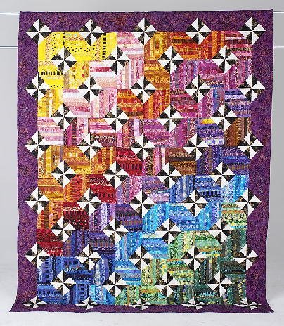 1: STRINGS OF COLOR full size quilt made by the Quilt B