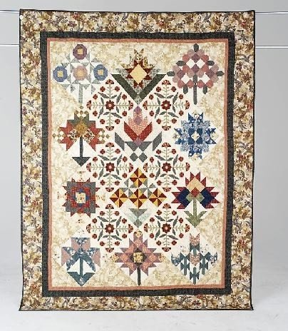 3: A QUILTERS SCRAPPY GARDEN twin size quilt by the Cal