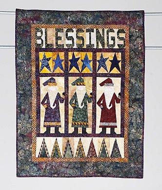 4: BLESSINGS, a country Santa theme (sampler) wall hang