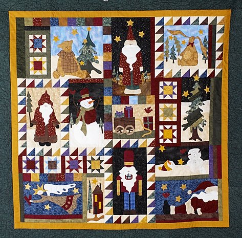8: YULETIDE JOY wall hanging by Bev Young & the staff o