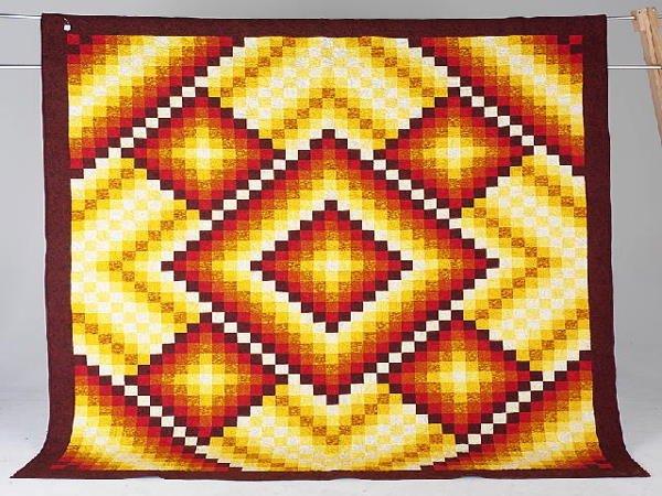 10: ARIZONA SUNRISE queen sized quilt by Pat Corbato.
