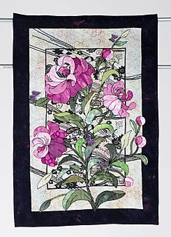 11: MEMORIES OF YOU art quilt by Barbara Brouches, as s
