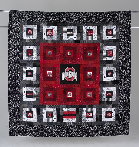 14: BLOCK O's, BLOCK OH's! lap quilt by Vickie L. Dougl