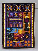 15: HAPPY HAUNTING wall hanging quilt by Eleanor Geiger