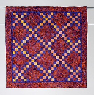 17: DOUBLE IRISH CHAIN  wall hanging quilt by Ruth Paul