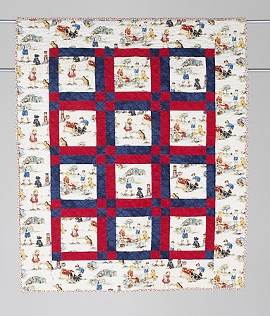 18: FUN WITH DICK AND JANE baby quilt by Bonnie Halchin